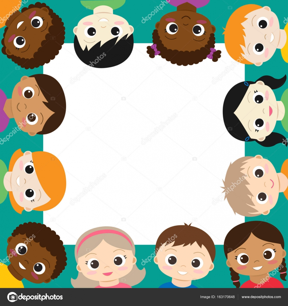 Vector frame with happy boys and girls — Stock Vector © yuliya_m ...