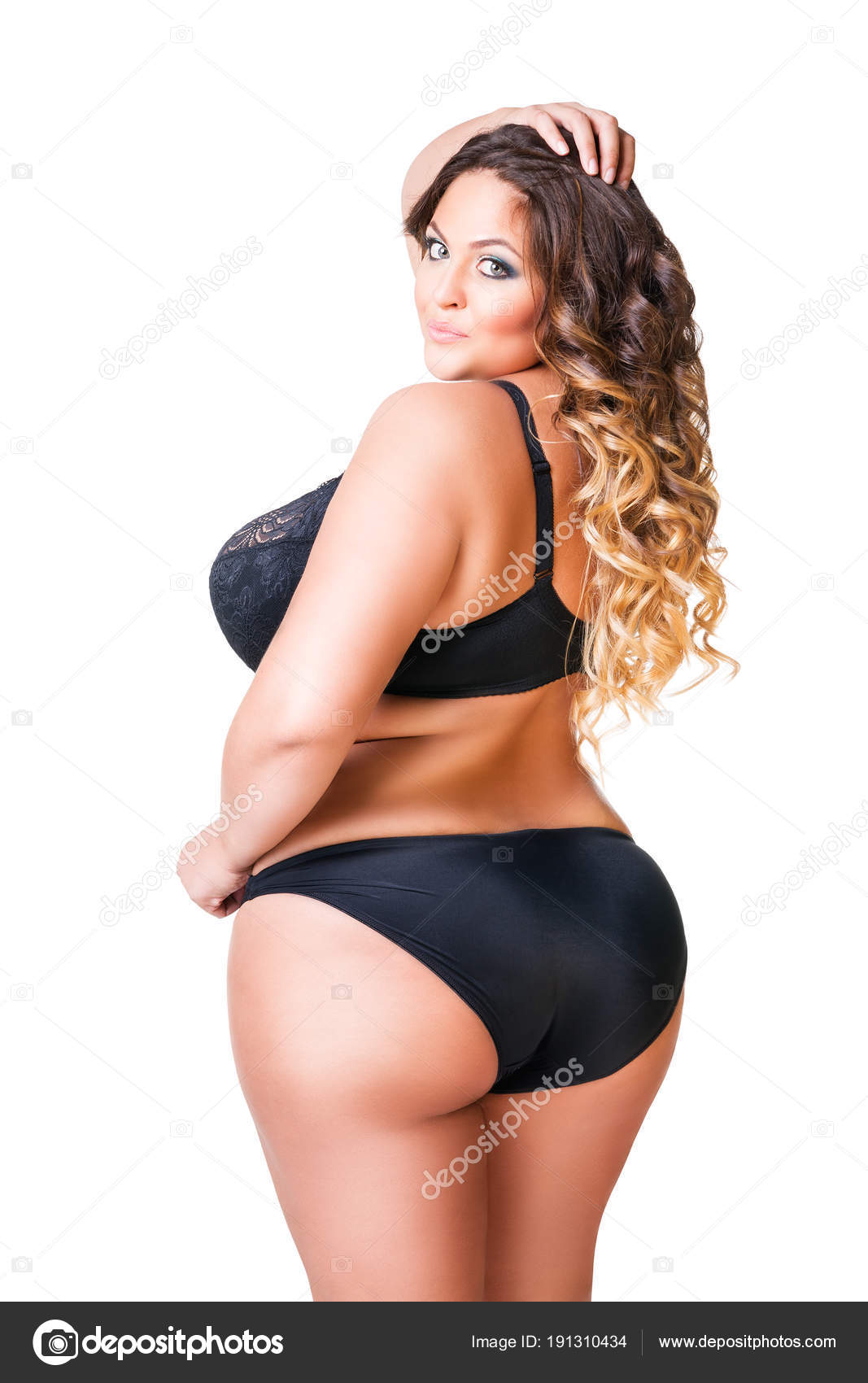 Chubby black women on lingerie