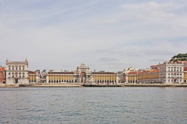 Commerce Square (Praca do Comercio) in Lisbon seen from the Tagus River, Portugal