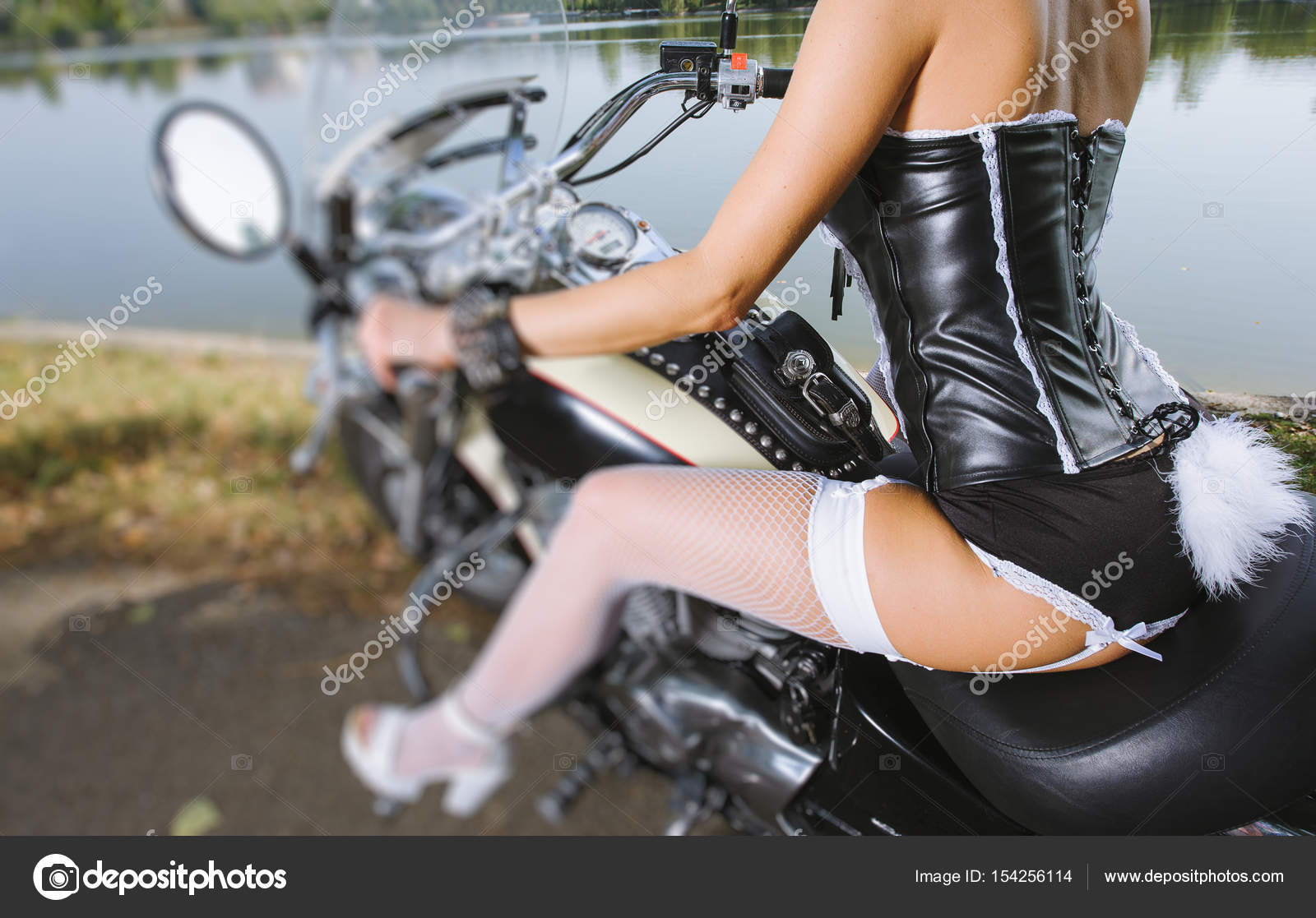old school motorcycle sexy girl