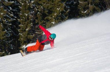 Professional freerider snowboarding