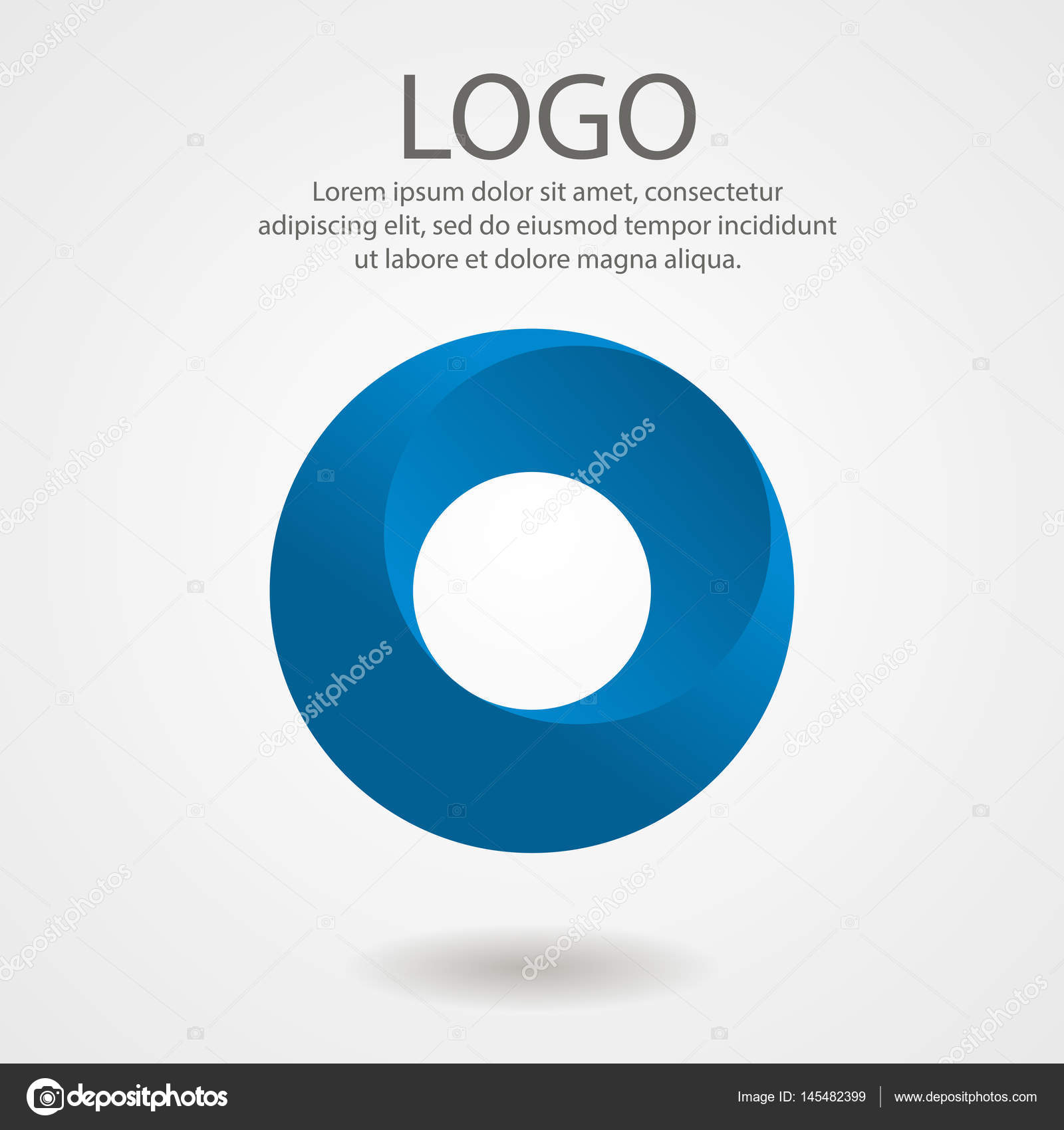 Abstract logo in the form of a circle. Corporate icon, template ...