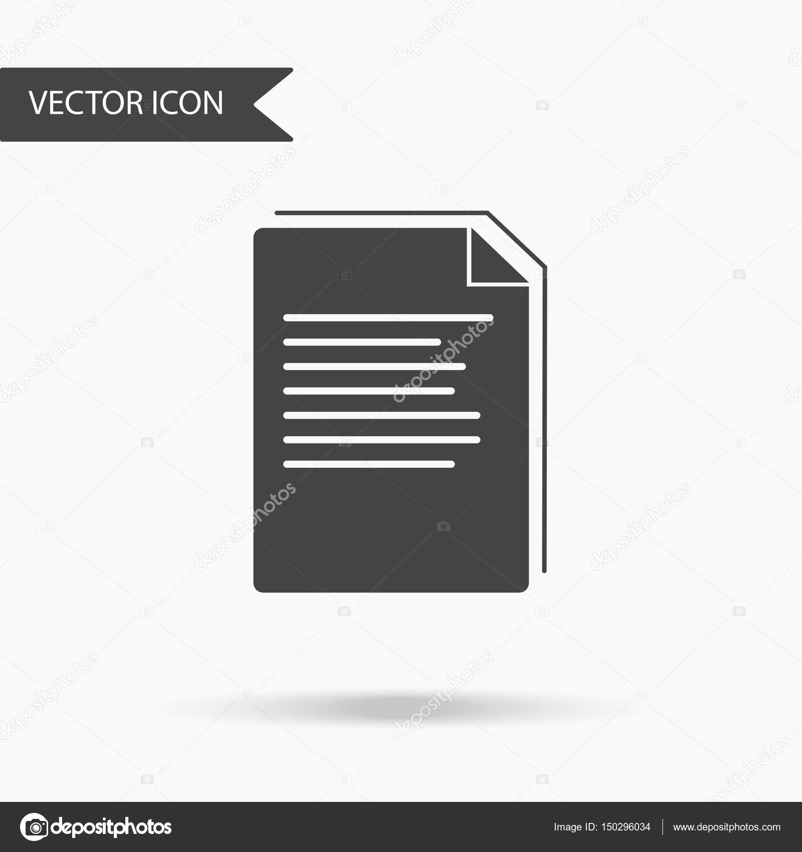 vector business icon stack of paper sheets icon for for annual reports charts