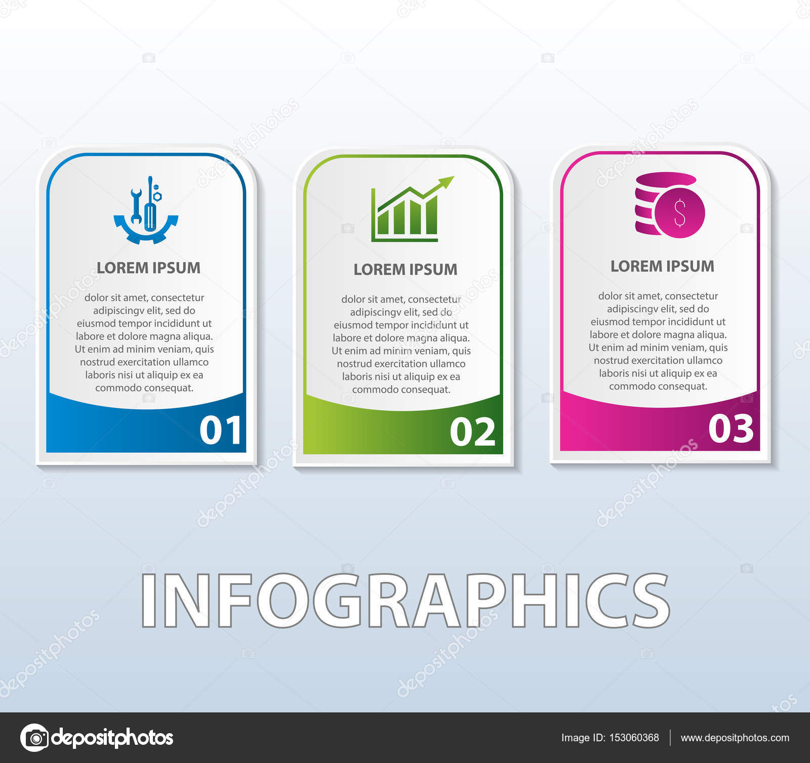 vector illustration template of infographics in the form of