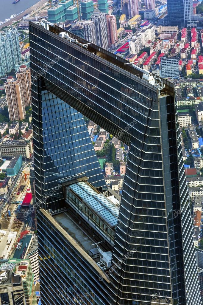 Shanghai World Financial Center Skyscraper Reflections Liujiashui