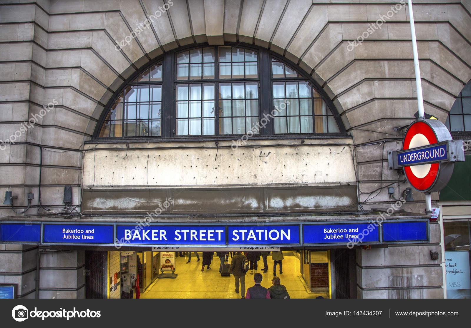 Estação de Metro Baker Street Londres Inglaterra