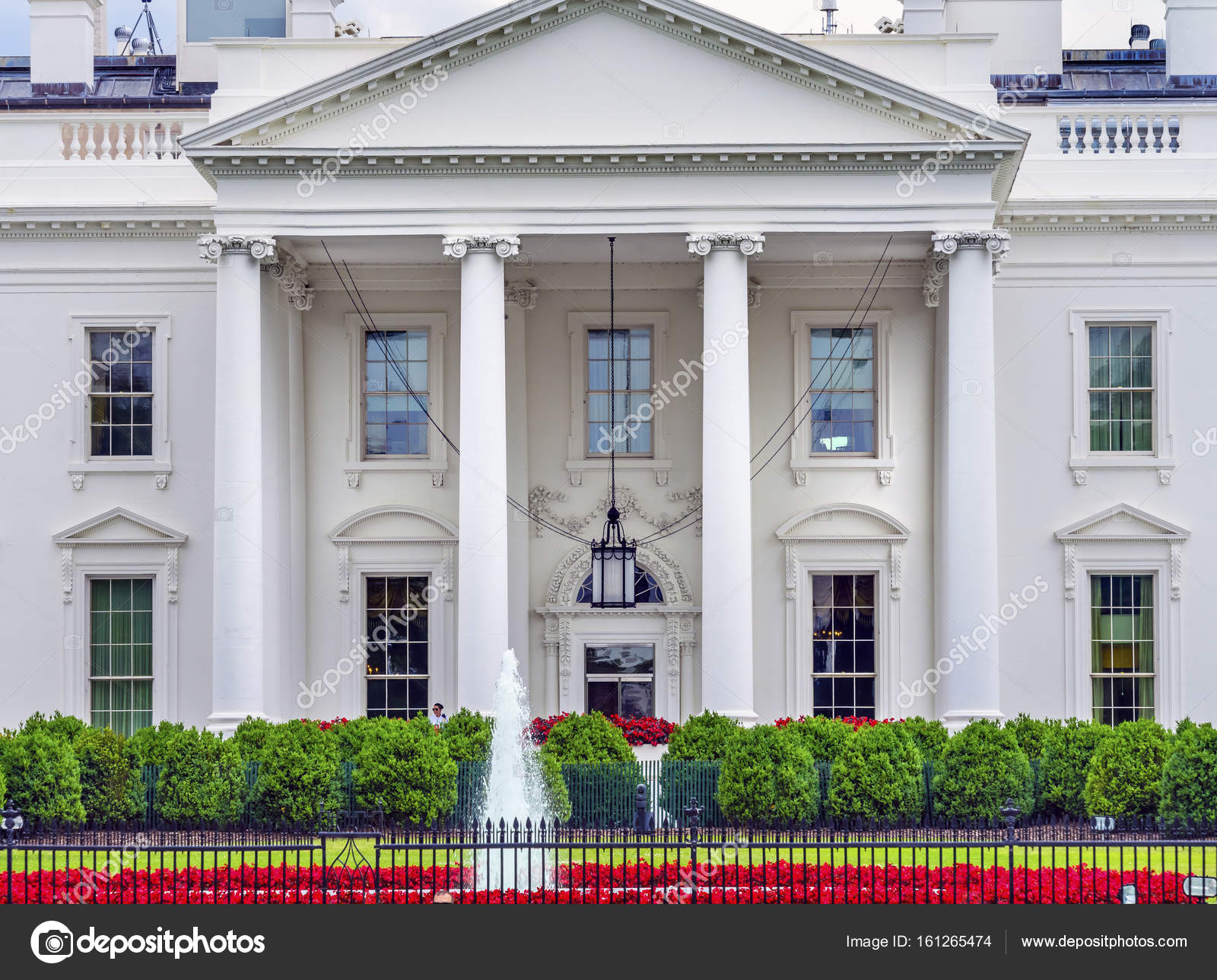 Maison Blanche Porte Lustre Pennsylvania Avenue Washington Dc