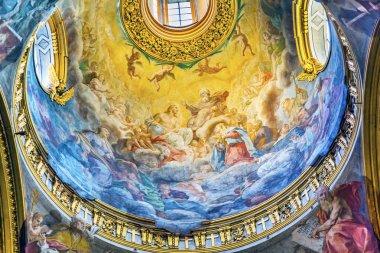 Jesus God Fresoc Dome Santa Maria Maddalena Church Rome Italy