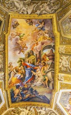Jesus Fresco Ceiling Santa Maria Maddalena Church Rome Italy