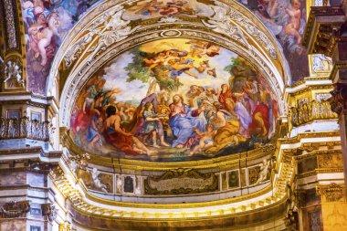Jesus Teaching Fresco Santa Maria Maddalena Church Rome Italy