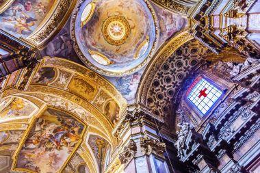 Jesus Fresco Dome Ceiling Santa Maria Maddalena Church Rome Ita