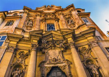 Facade Outside Santa Maria Maddalena Church Rome Italy