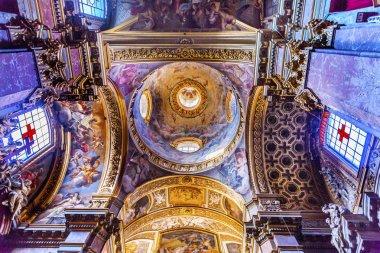 Dome Ceiling Santa Maria Maddalena Church Rome Italy