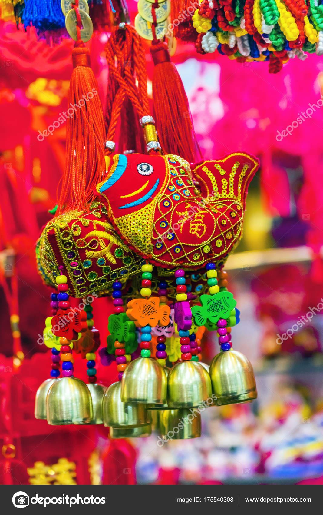 Roten Chinesen Fisch Lunar New Year Dekorationen Peking China ...