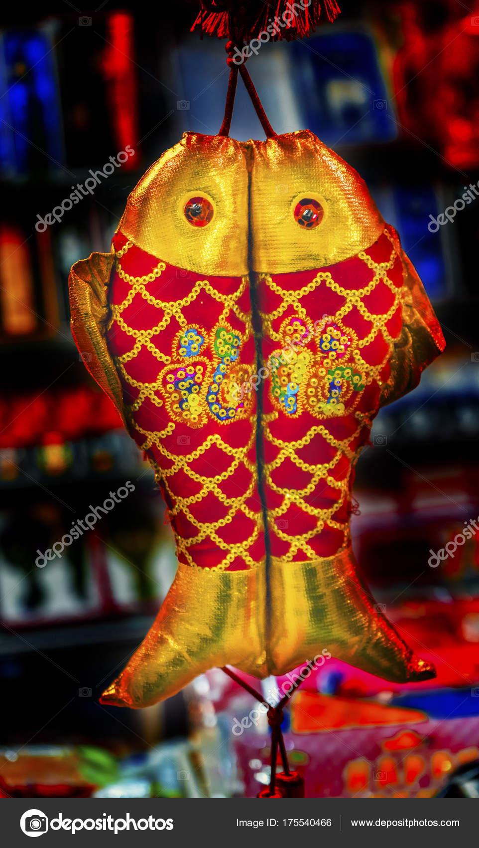 Chinesische Doppel Rotbarsch Lunar New Year Dekorationen Peking ...