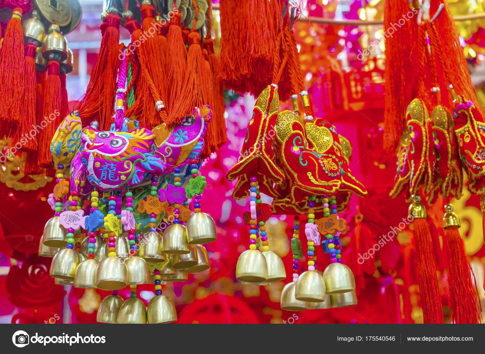 Hunde Drachen Geld Chinese Lunar New Year Dekorationen Peking China ...