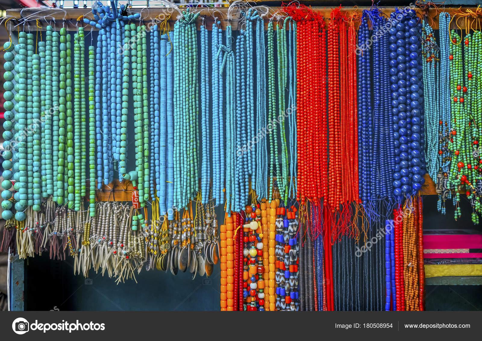 Синій червоний бірюзовими китайський керамічний бісером Panjuan блошиний  ринок Пекіні Китай. Curio Panjuan блошиний ринок має багато підробок f12615a694294