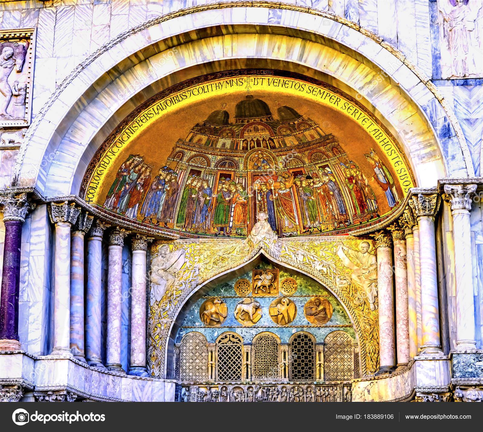 Igreja de Veneza Itália deposição relíquias mosaico são Marcos ...
