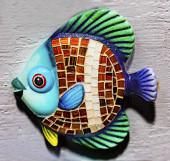 Színes kerámia hal szuvenír San Antonio Texas