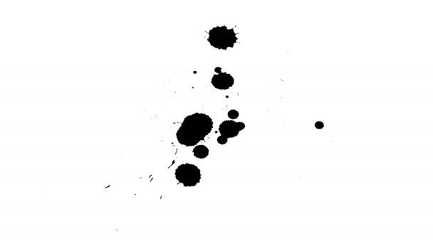 Černé inkousty kapka na suchý papír.