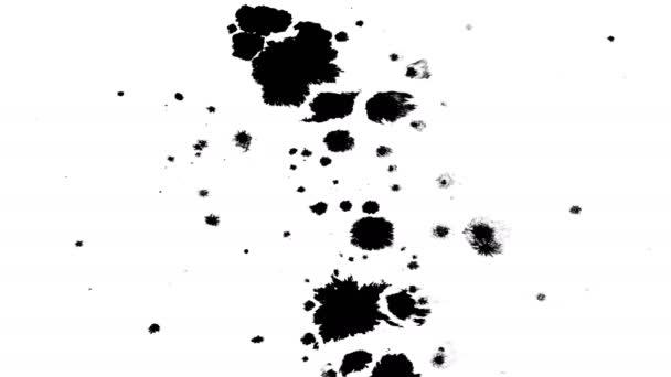 Mnoho inkoustové kapky na mokrý papír 07