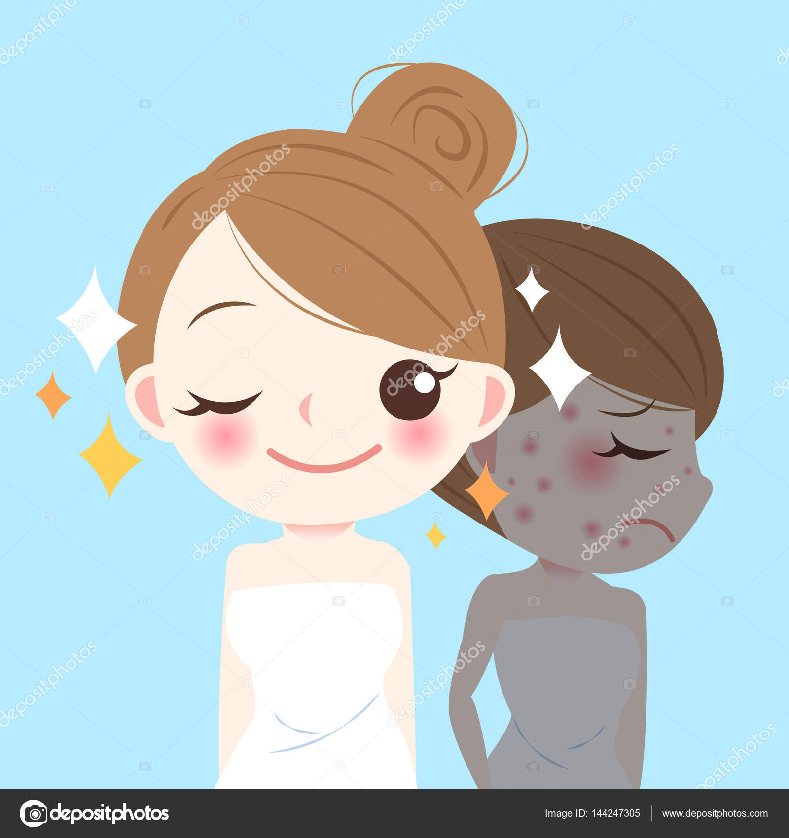 Beauty Cartoon Skincare Woman Stock Vector C Estherqueen999 144247305