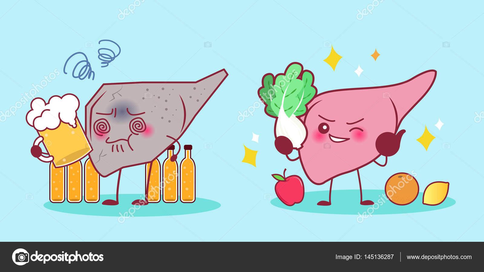 hígado con problema de salud — Archivo Imágenes Vectoriales ...