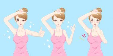 woman armpit removal