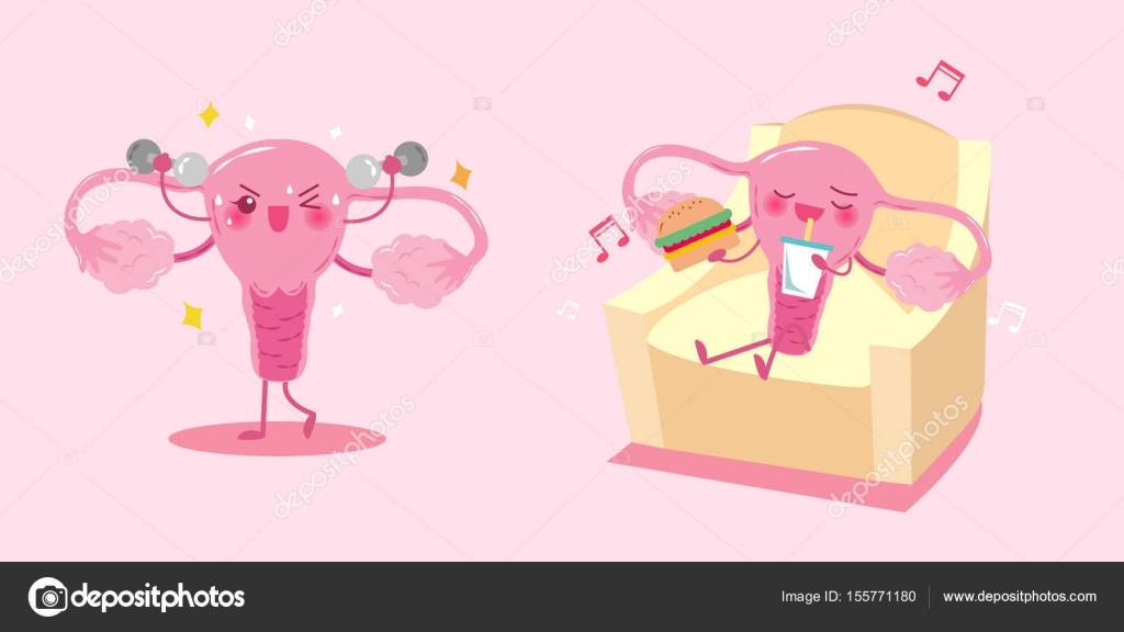 niedlichen Cartoon Gebärmutter — Stockvektor © estherqueen999 #155771180