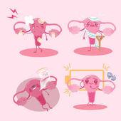 roztomilý kreslený dělohy