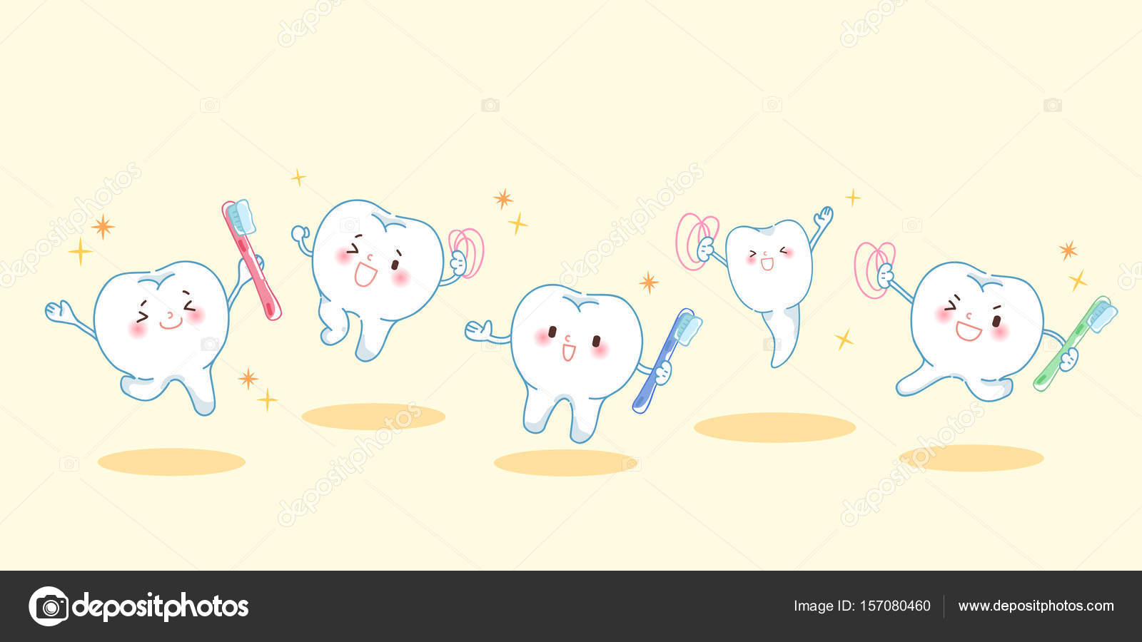 c8e7962ac dente de bonito dos desenhos animados jogando — Vetor de Stock ...