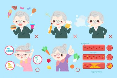old people with health concept