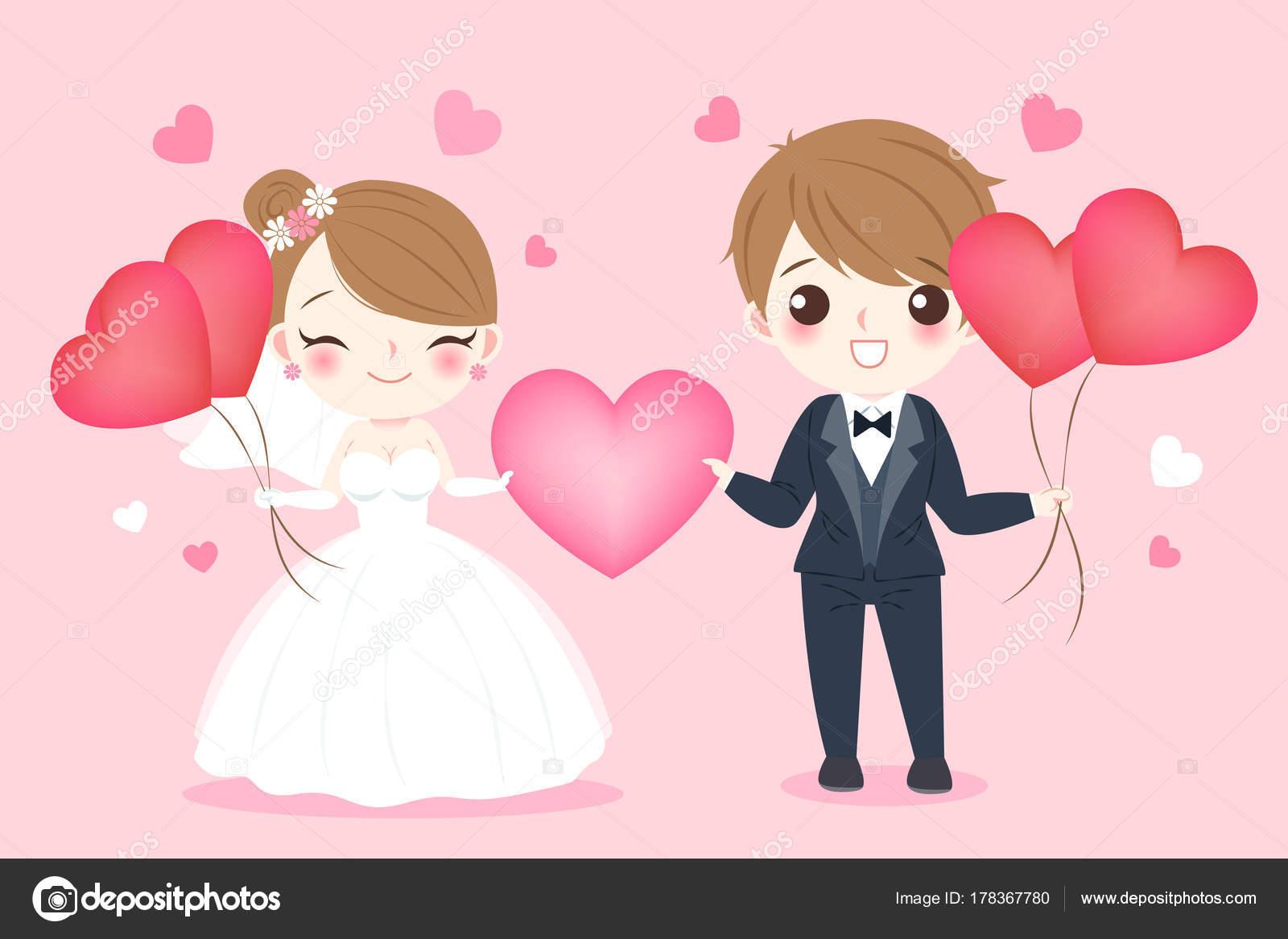 gente de la boda de la historieta — Vector de stock © estherqueen999 ...