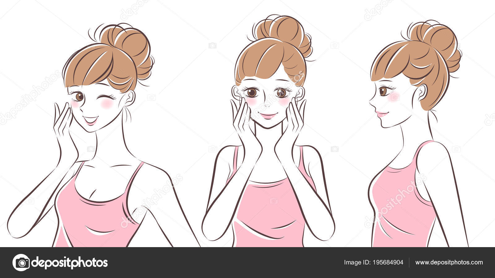 Beauty Skincare Woman Stock Vector C Estherqueen999 195684904