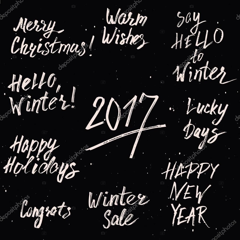 Felices vacaciones feliz Navidad y año nuevo 2017 plantillas ...