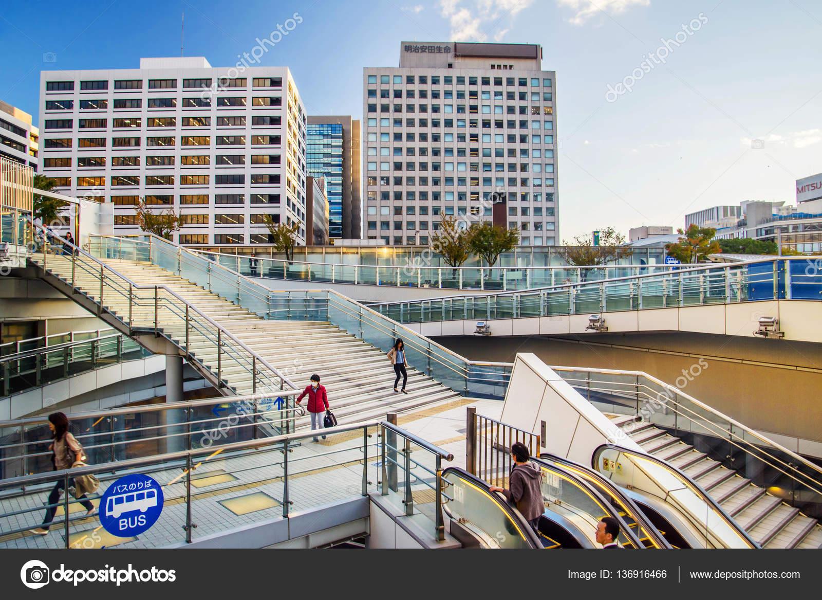 Nagoya, Japan - November 11,2016. Menschen bei Oasis 21, Oase 21 ist ...