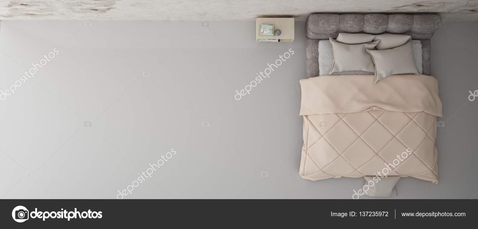 Charmant Elegantes Schlafzimmer Innenarchitektur Hintergrund Mit Kuscheligen Bett,  Tisch Und Tapete U2014 Foto Von Sangeetajais
