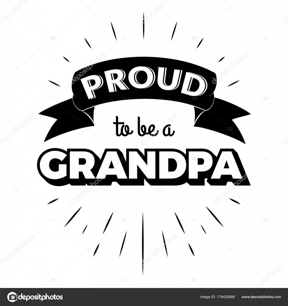 Proud to be a grandpa vintage lettering invitation labels with rays proud to be a grandpa vintage lettering invitation labels with rays stock vector stopboris Images