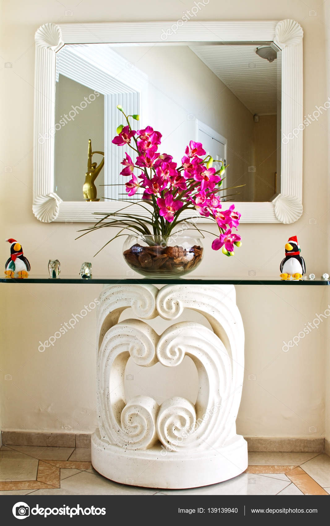 Wohnzimmer Spiegel Dekoration Interieur U2014 Stockfoto