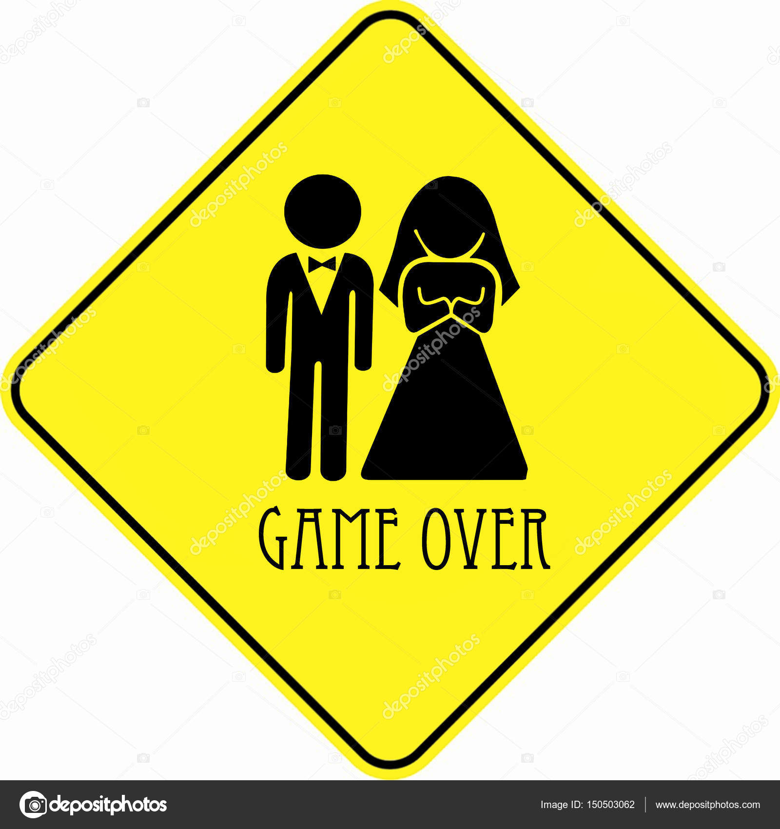 Spiel über Hochzeit Zeichen Stockfoto Chutimakuanamon 150503062