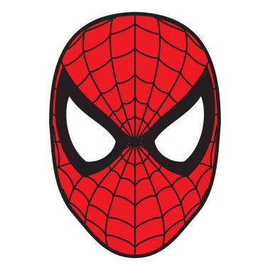 spiderman mask  illustration red color