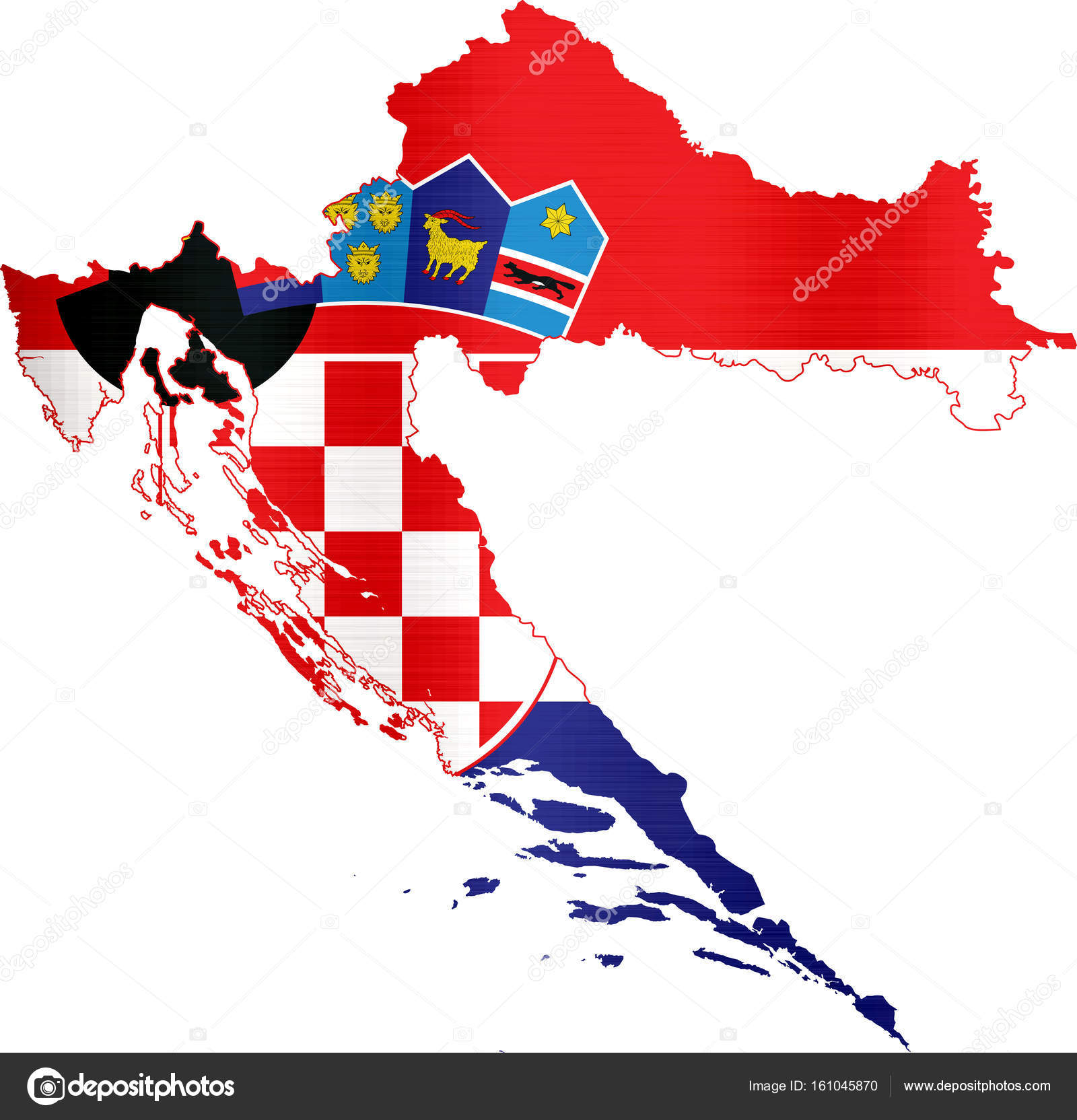 Flag Map Croatia Illustration Stock Photo C Chutimakuanamon