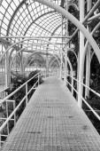 Botanical garden Curitiba zárt struktúra építészet hall üvegházhatást okozó fekete fehér
