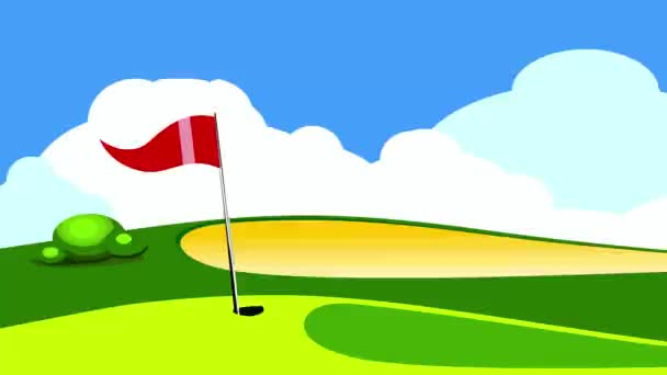 golf hole ball  grass course   game illustration
