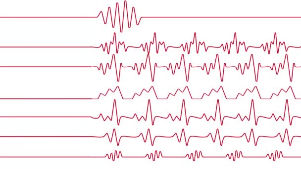 heart cardiogram pulse red rate medical illustration