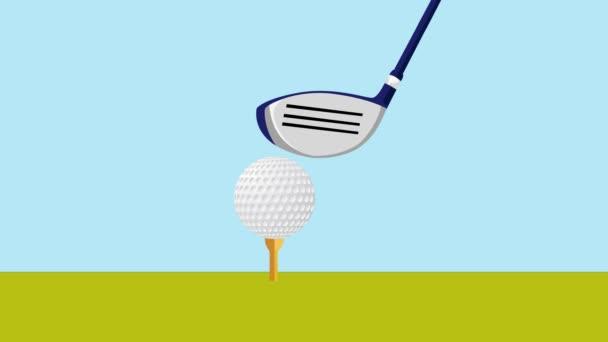 jamka v jednom golfovém míčku střílel trávu