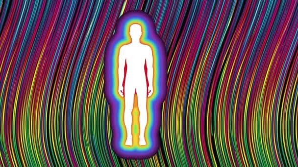 lidské tělo aura energie čakra spiritualita pohyb barevné pozadí