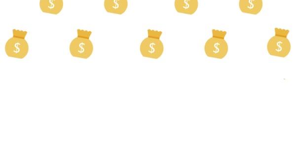 pytel peněz ilustrační pytel zisk úspory bohatý pohyb