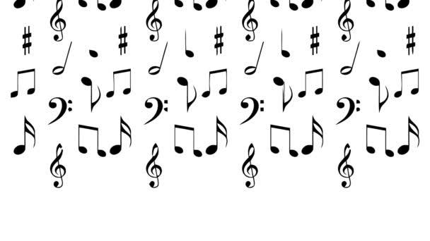 zene jegyzetek alá fekete fehér hang