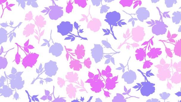 rózsák sziluett alá virág mozgás illusztráció